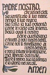 Vater Unser Auf Italienisch